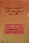Jiddu Krishnamurti - Obras Completas I