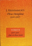 Jiddu Krishnamurti - Obras Completas II